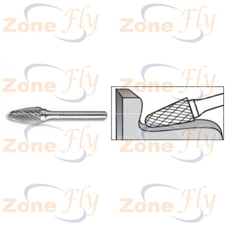 Dental Burs Tree Radius End