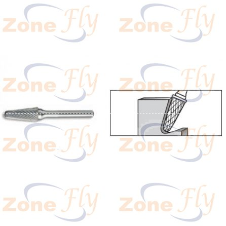 Dental Burs 14° Taper Radius End